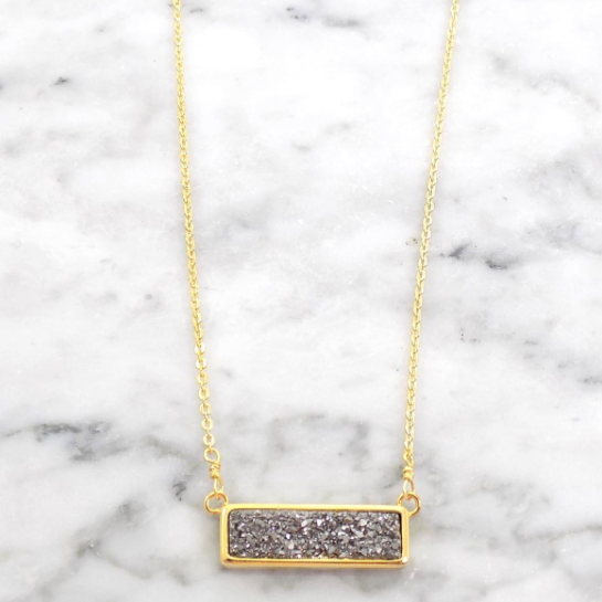 silver bar necklace brenda grands