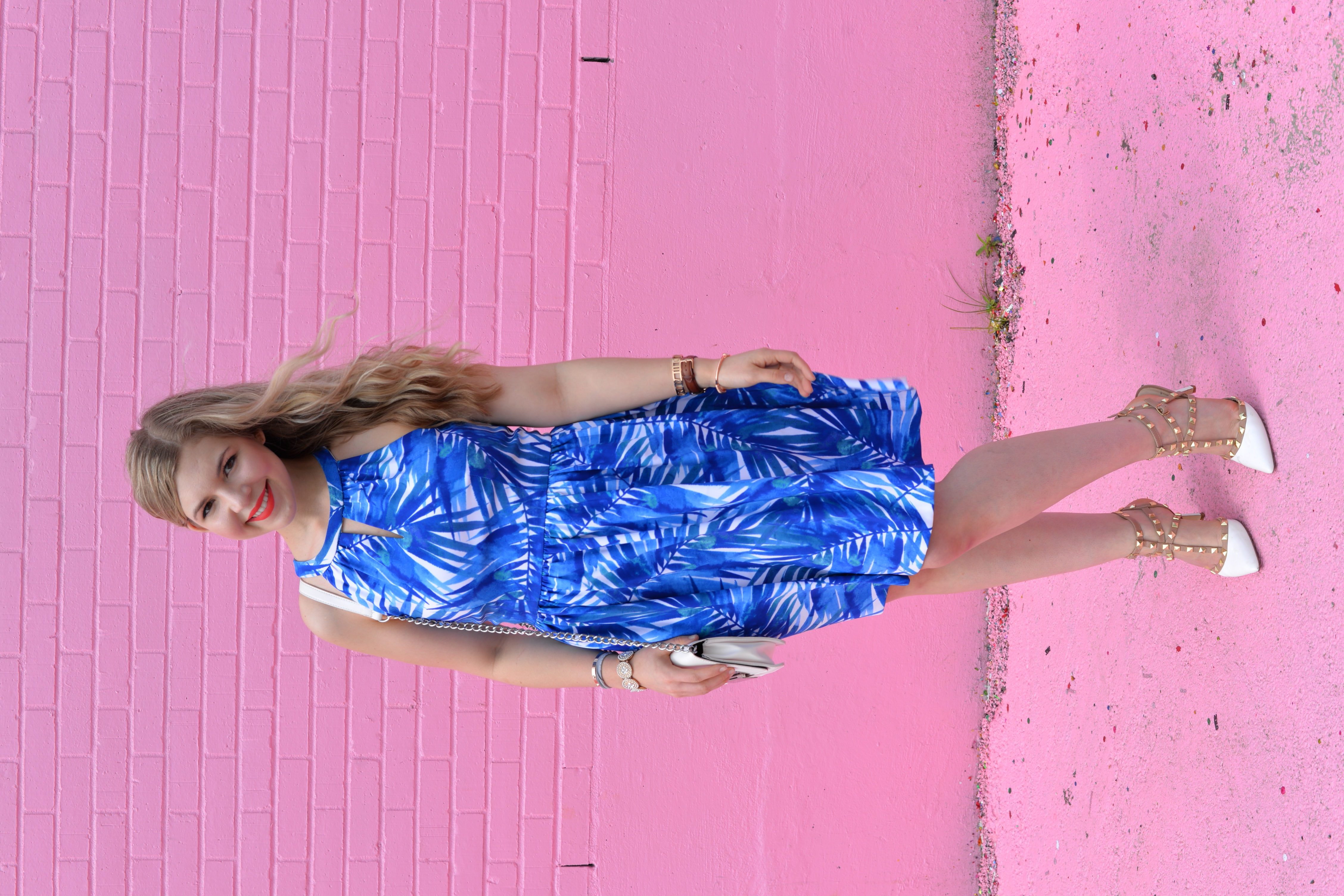 The Best Palm Tree Printed Dress on a Budget