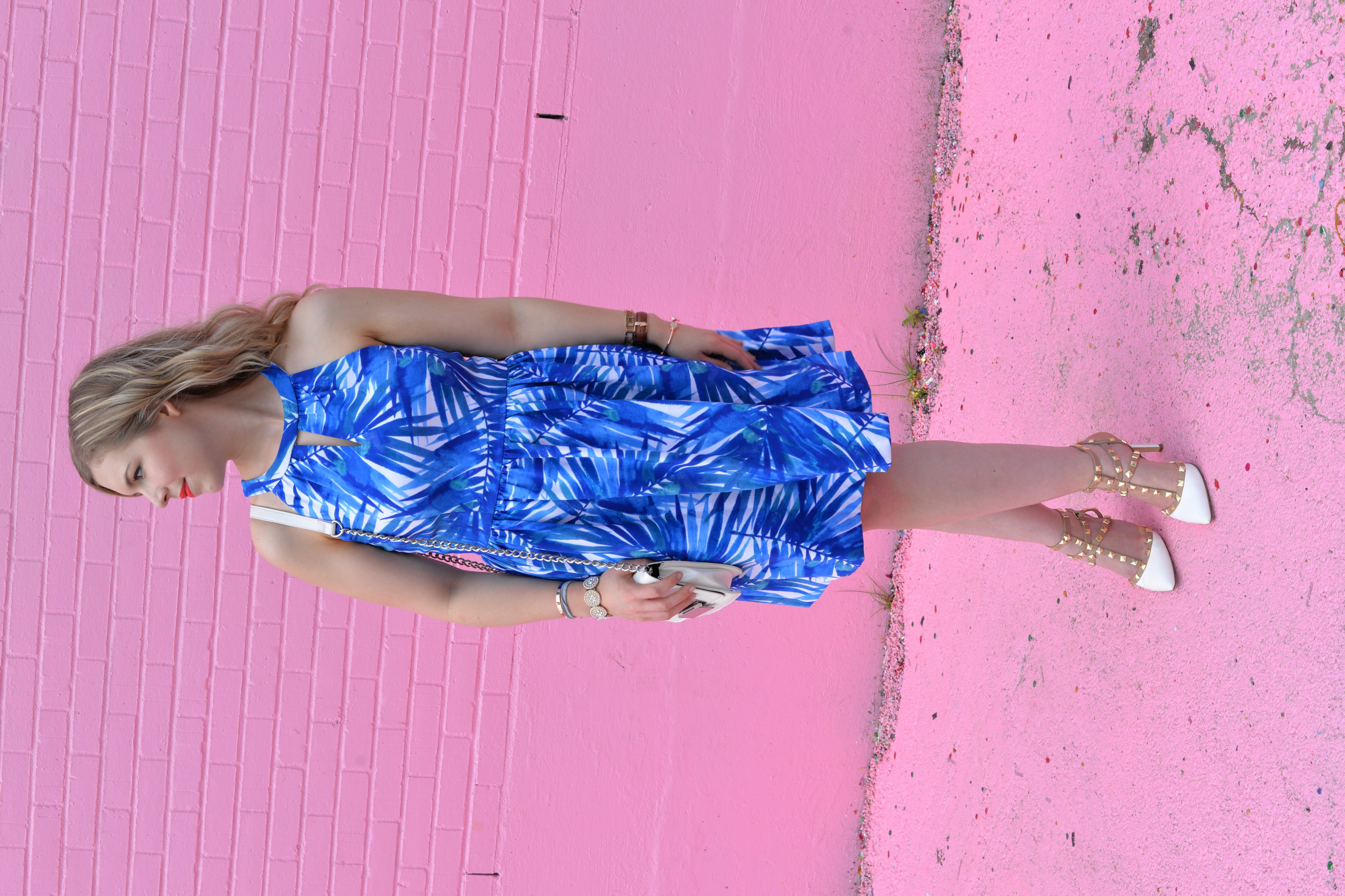 summer fashion palm tree dress