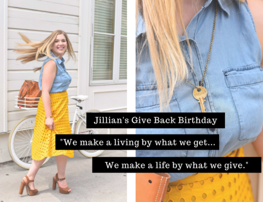 Jillian's Give Back Birthday