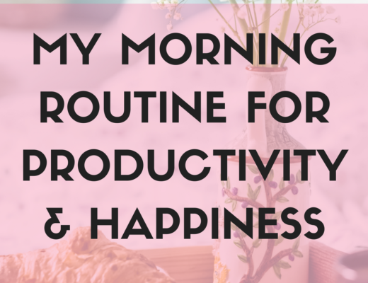 Lifestyle Blogger Cup of Charisma Shares morning routine for productivity and happiness