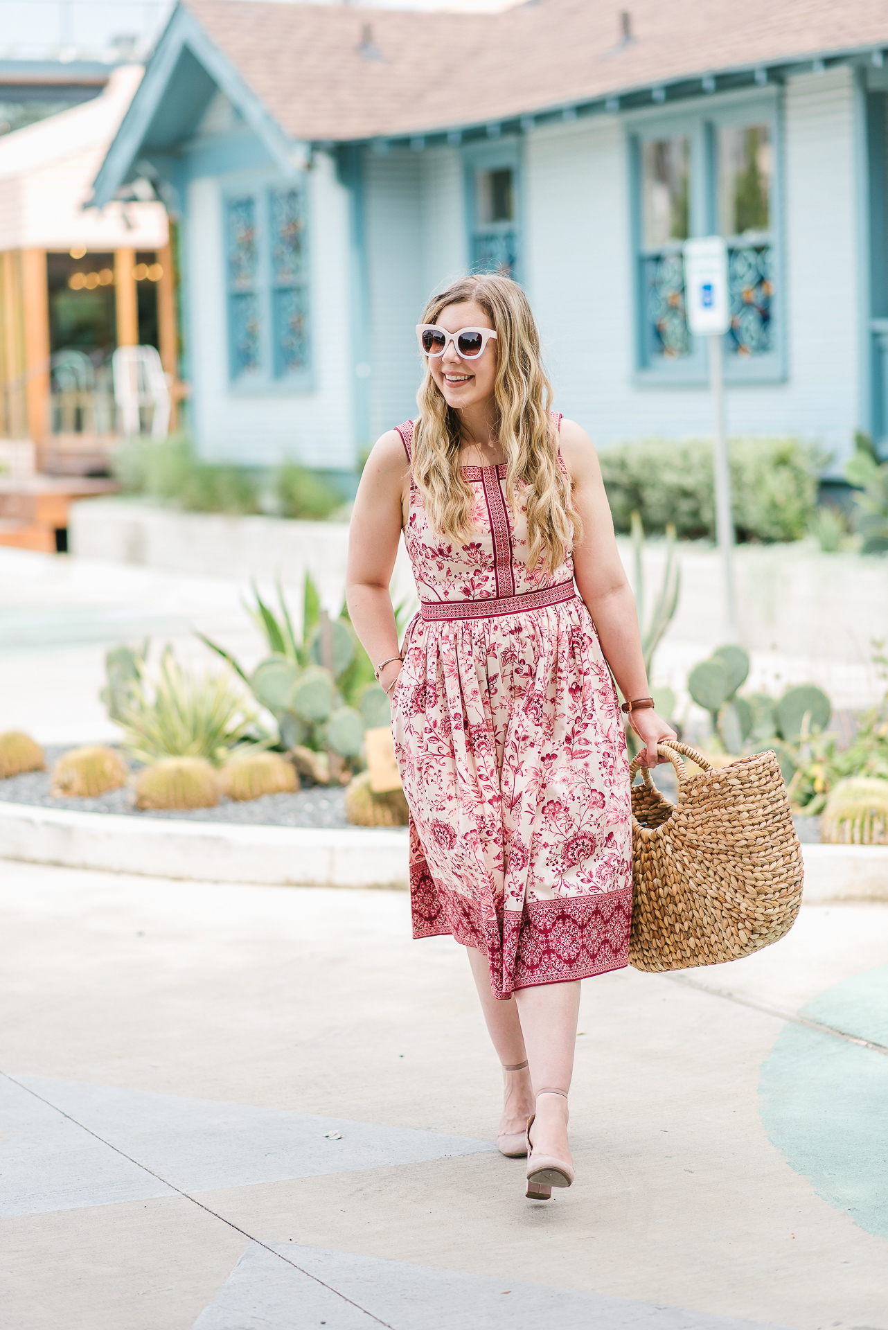 Cup of Charisma Wearing Esme Pink Floral Dress Gal Meets Glam Collection 6