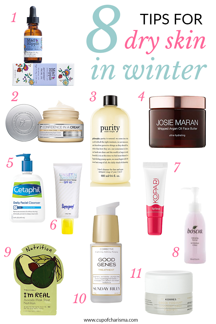 8 Tips for Dry Skin in Winter on Cup of Charisma, Houston Lifestyle Blog
