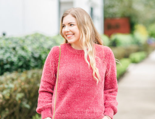 Pink Chenille Sweater and Denim Jeans Cup of Charisma Blog 3