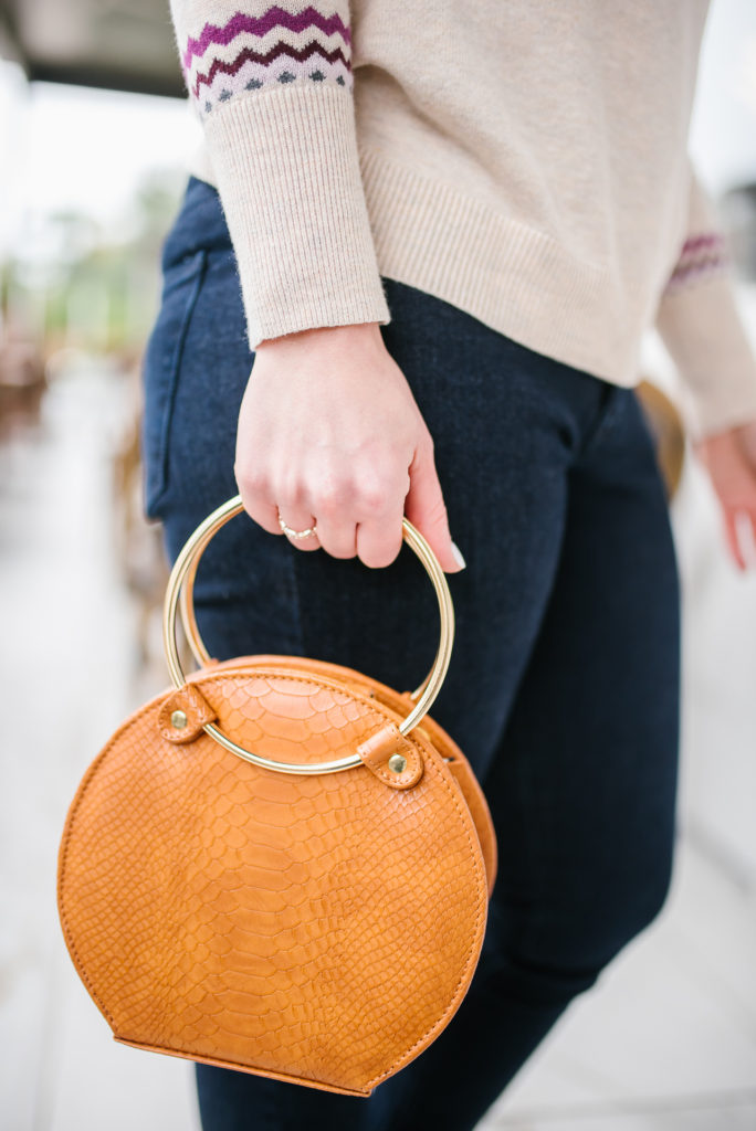 Sweater and Brown Ceibo Sustainable Vegan Bag - Sustainable handbags