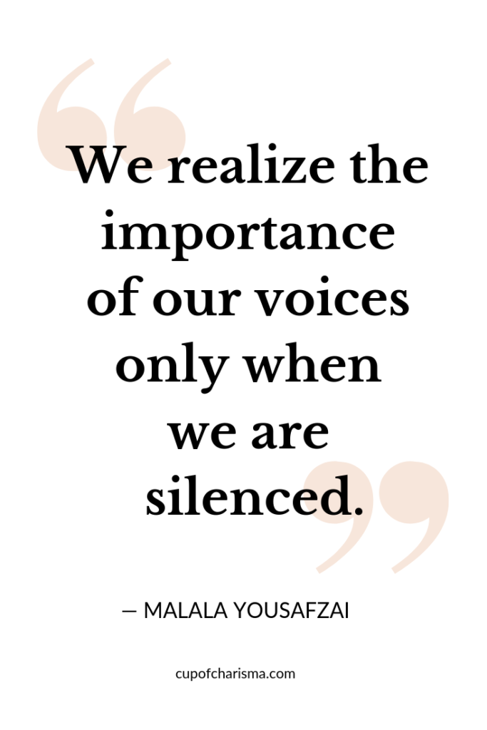 Inspiring Quotes to Live By - Cup of Charisma - Malala Yousafzai