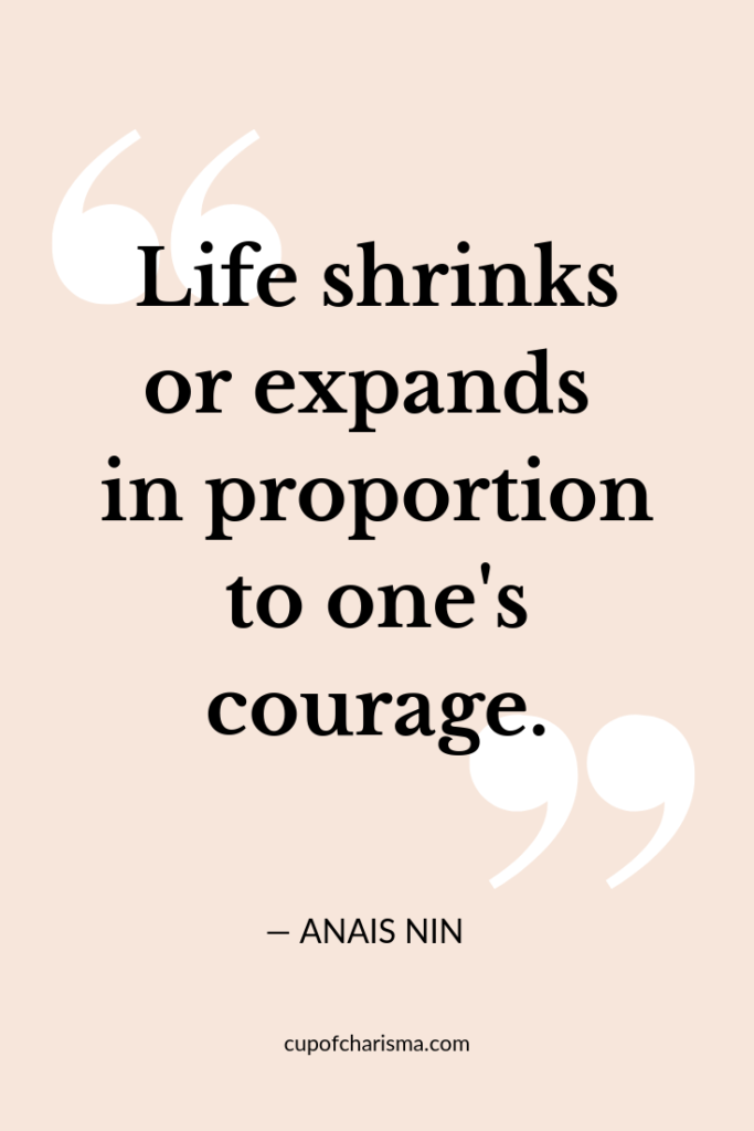 Inspiring Quotes to Live By - Cup of Charisma - Anais Nin