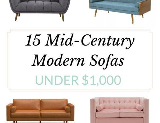 15 Mid-Century Modern Sofas Under $1000 - Cup of Charisma Lifestyle Blog.jpg