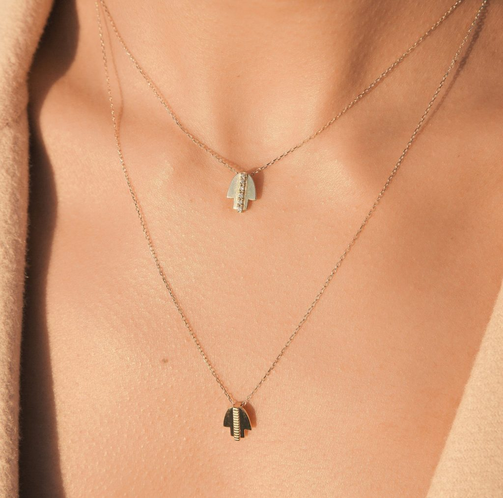 AUrate Hamsa Necklace - Stacking Gold Necklaces for Fall